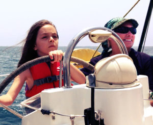 Captain Shari coaching Mila on the way to Santa Monica Pier
