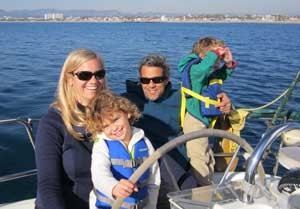Admiralty Sailing charters in Marina del Rey for family sails