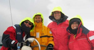 We can go sailing in the rain if you want but we are happy to reschedule for nicer weather!